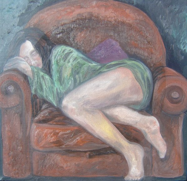 Girl on an armchair
